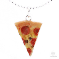 Scented Pizza Necklace