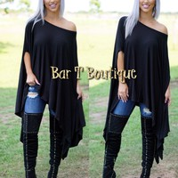 Black Slouch Top