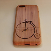 custom bicycle wooden iPhone 6 case, waves of the sea iphone 6plus wood case, iphone 5 case, iphone 5c case,iphone 4 case