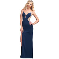 Glamour by Terani Couture Womens Beaded Prom Evening Dress
