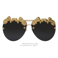 Royal Black Baroque Sunglasses