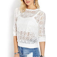 Voyager Open-Knit Top