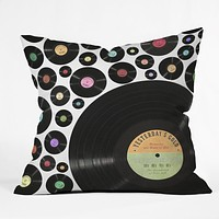 Belle13 Golden Oldies Vinyl Love Throw Pillow