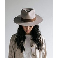 Miller Ivory Pinched Fedora