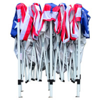 American Flag Pop-Up Canopy Party Tent with Mesh Wall Outdoor Camping Use