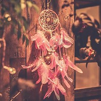 4 Colors Dream Catcher Decoration Light Feathers Bedroom Wall Hanging Light