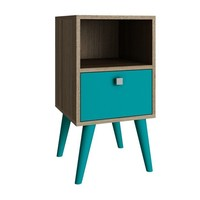 Abisko Side Table Oak/ Aqua