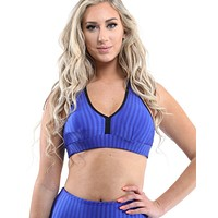 Firenze Activewear Sports Bra - Blue [MADE IN ITALY] - Size Small