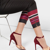 Stencilled Stripe skinny trousers - Black   Trousers & Shorts   Ted Baker UK