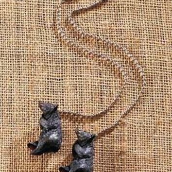 Set Of 2 Bear Ceiling Fan Pulls Lodge Cabin Rustic Country Home Decor