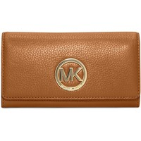 NWT MICHAEL KORS 32F2GFTE3L fulton carryall leather wallet, MSRP $148