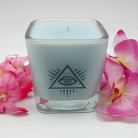 5oz Eye of Providence, All Seeing Eye, Ancient Symbols, Illuminati, New World Order, Pagan Candles, Occult Candle, Wiccan Candle, Meditation