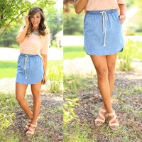 Chambray My Way Skirt