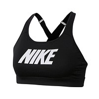 Nike Women's Impact Strappy High Support Sports Bra Black White