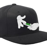 DOPE Rolling Weed Snapback Hat