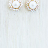 Mother of Pearl Stud Earrings - Earrings