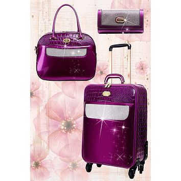Sleek & Steady 2PC Set | Signature Away Luggage Set for Travel with Crossbody Bag