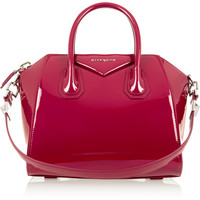 Givenchy - Small Antigona bag in cherry patent-leather