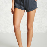 Drawstring Cuffed PJ Shorts