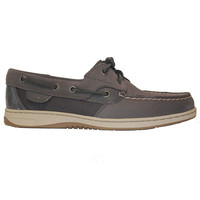 Sperry Top-Sider Bluefish - Micro Dot Graphite Leather Boat Shoe