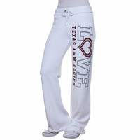 My U Texas A&M Aggies Love Bird Knit Pant - White
