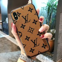 Phone Case for iPhone 7 iPhone 8, Classic Monogram Vintage Style Elegant Luxury Fashion Designer with Case Cover iPhone7 iPhone8- US Fast Deliver Guarantee FBA