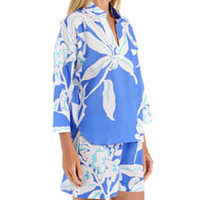 N by Natori Sleepwear YC6213 Graphic Floral Pullover Pajama Set