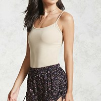 Floral Woven Side-Tie Shorts