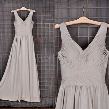 Light Gray Long Bridesmaid Dresses, Simple Prom Dress, Party Dresses,Evening Dresses,Wedding Party Dresses, Bridesmaid Dresses