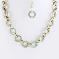 Eileen Circle Chain Necklace