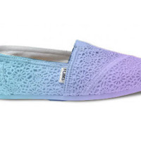 Dip Dyed Customizable Crochet Ombre TOMS Shoes