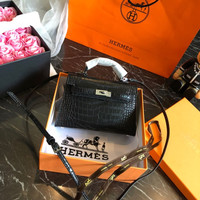 HERMES Leather Mini Bag