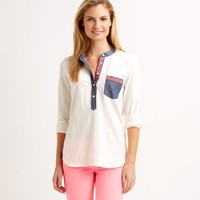 Embroidered Knit Popover