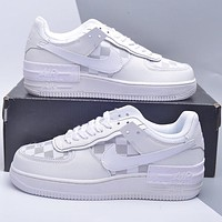 Nike WMNS Air Force 1 Shadow x Louis Vuitton LV new men's and women's casual low-top sneakers