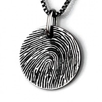 Custom Fingerprint Pendant - Jak Figler - Jewelry - Unique - Gift - Necklace - One of a Kind