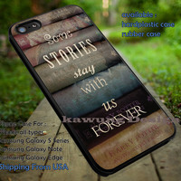 Harry Potter Books with Quote Some Story iPhone 6s 6 6s+ 5c 5s Cases Samsung Galaxy s5 s6 Edge+ NOTE 5 4 3 #movie #HarryPotter dt