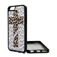 Apple iPhone 6 6 PLUS 5C 5S 4S Generation Fitted Rubber Silicone TPU Phone Case Cover Leopard Cross Print