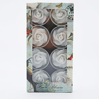 Flower Tea Light Pack in White - Urban Outfitters