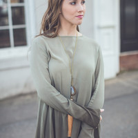 Hello Ombre Top in Olive