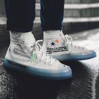 OFF WHITE x Converse Woman Men Fashion Old Skool Sneakers Sport Shoes