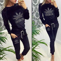 2015 New Autumn Sport Suits Women Sweatshirt+Pants Hoodies One Set Clothing Tracksuits Pullovers 2Pcs/Lot Active Costumes