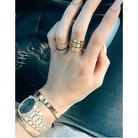 """Cartier"" Stylish Women Men Diamond Ring Couple Cute Rings Rhinestone Ring I"
