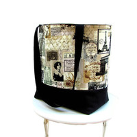 Travel tote bag Paris France Eiffel Tower by Patchtique