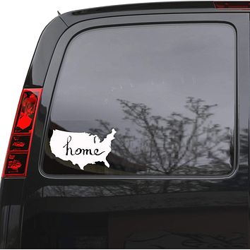 """Auto Car Sticker Decal USA Map Patriot United States Truck Laptop Window 8.2"""" by 5"""" Unique Gift ig3706c"""