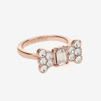 Dainty bow crystal ring - Rose Gold | Jewelry | Ted Baker