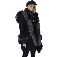 2016 new winter Women jacket coat  The new temperament oversized fox fur down jacket -50 C smiling jacket fur