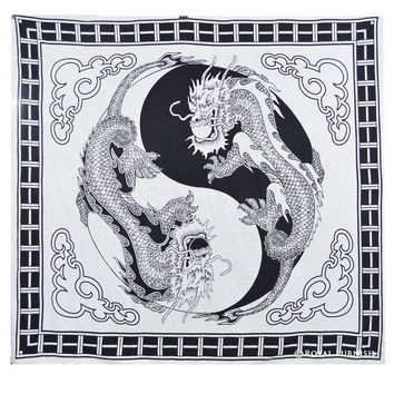 Yin Yang Chinese Dragon Fly Hippie Tapestry Wall Hanging Bedspread Decor Art
