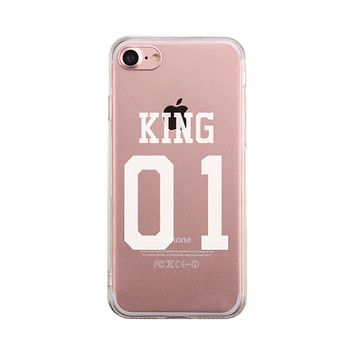 King01 Couple Matching Phone Case Cute Clear Phonecase