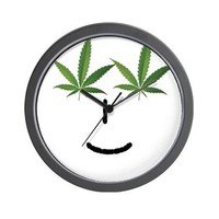 Pot Head Emote Wall Clock> The Pot Head Emote> 420 Gear Stop