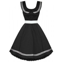 H&R Heidi Sailor Dress Black